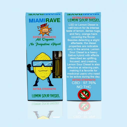 Lemon Sour Diesel Strain CBD Vape Cartridge *Extra Strength*