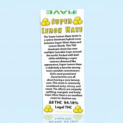 Super Lemon Haze Strain THC Oil Vape Cartridge